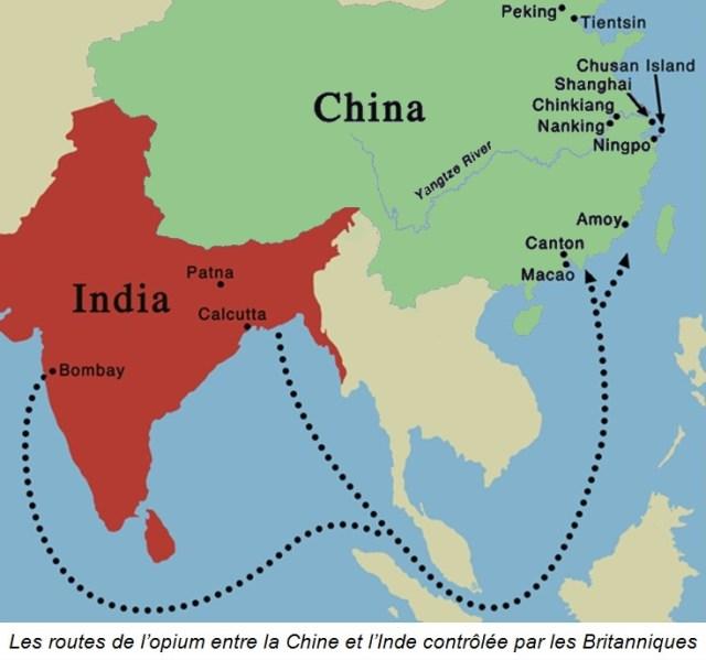Histoire du thé: route de l'opium