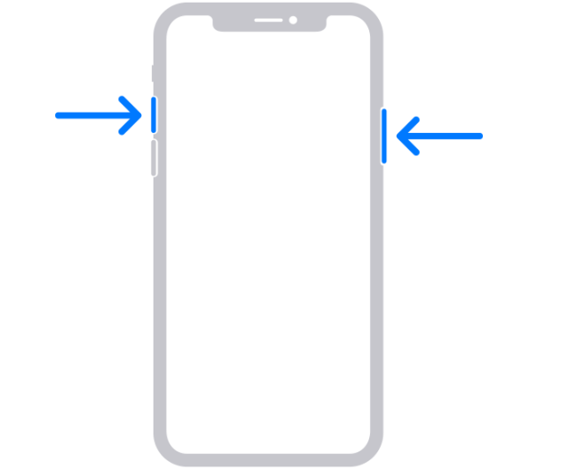 How to take screenshot on iPhone X and above
