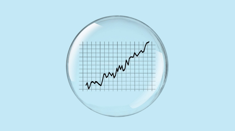 Bubble with Stock Chart inside it