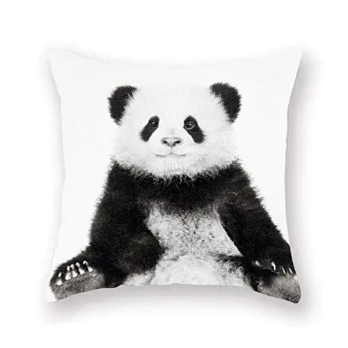 smilyard panda pillow covers decorative throw pillow covers animal lovely black panda super soft pillow case outdoor
