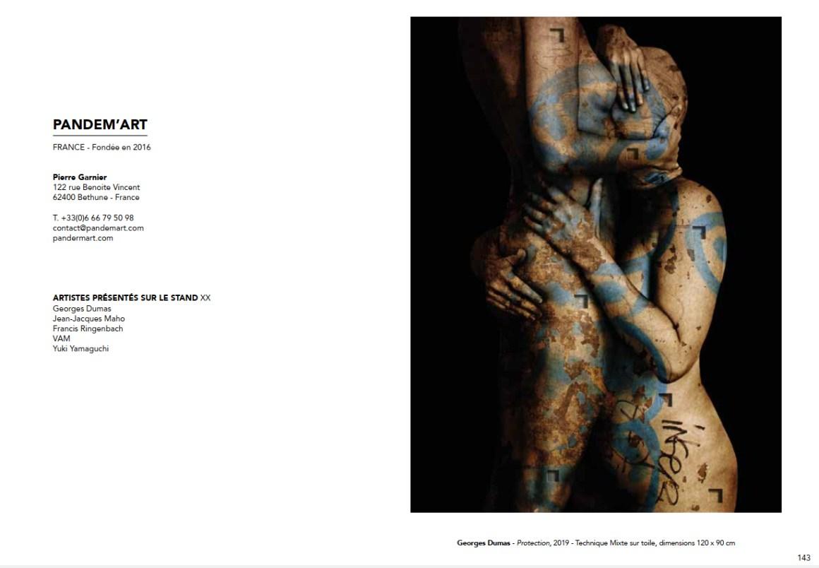 Page catalogue du salon Art Up! 2019 présentant Pandem'Art