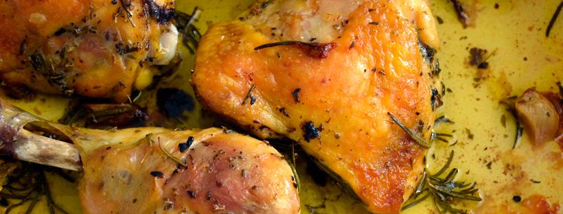 Pollo arrosto erbe