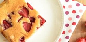 torta all'acqua con le fragole