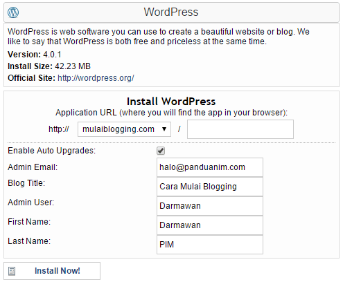 Instalasi WordPress 2