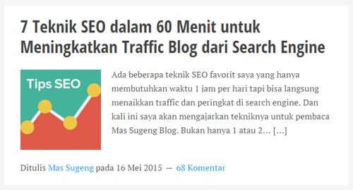 Guest blog di Mas Sugeng