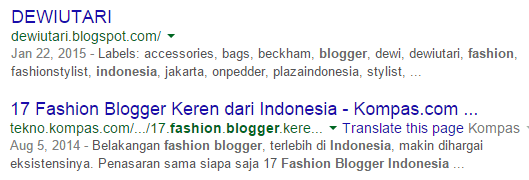 Blogger fashion