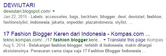 Blogger fashion