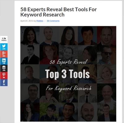 Keyword tool expert roundup