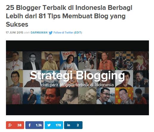 Strategi blogging roundup