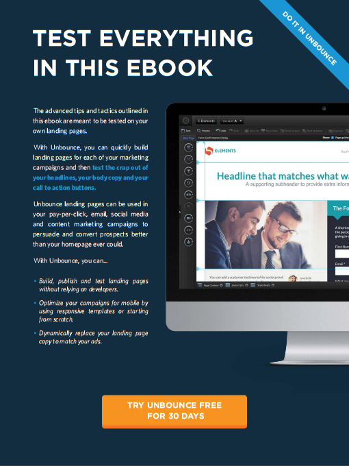 CTA ebook unbounce