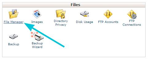 Masuk ke file manager