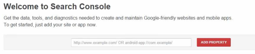 Masukkan alamat website ke search console