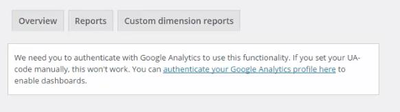 Otentikasi Google Analytics