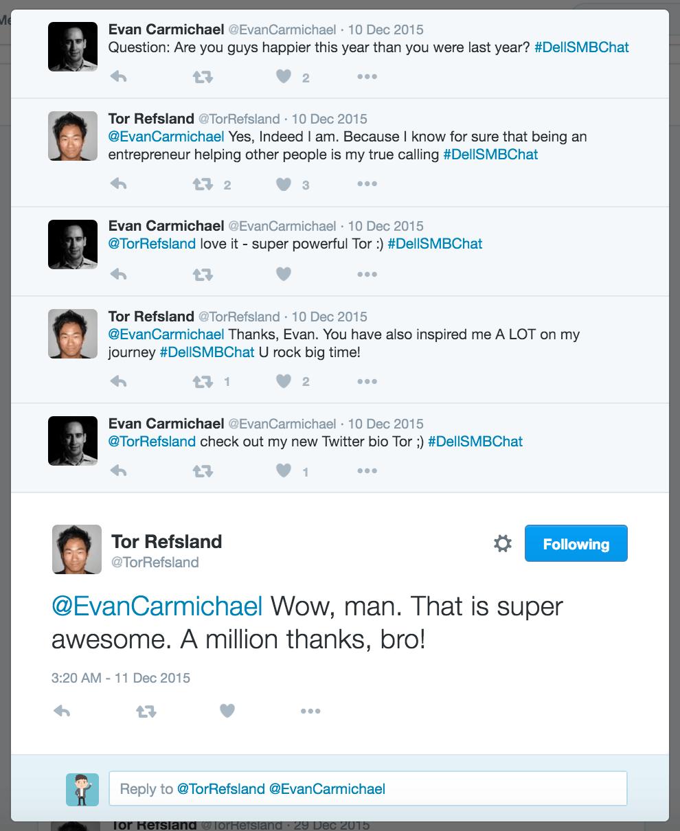 Tor Refsland Twitter Chat