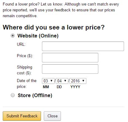 lower price