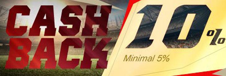 Promo Judi Bola 2018: Cashback 10%