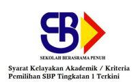 Syarat Kelayakan Akademik Kemasukan SBP Tingkatan 1 Terkini