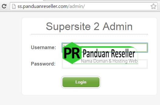 login ke admin supersite melalui fully branded url
