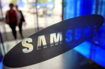 Logo Samsung di Kaca