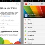Google +, backup data
