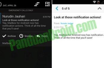 mailbox, dropbox, push email, forward email, aplikasi android