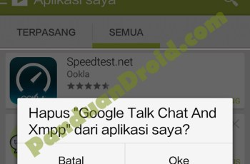 Play Store, Aplikasi android, Delete Aplikasi android