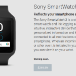 Sony, SmartWatch, Sony SmartWatch 3,