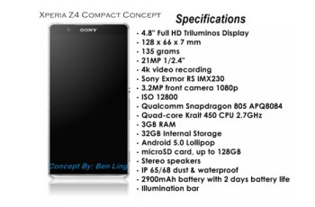 Konsep, Ben Ling, Sony Xperia Z4, CES 2015