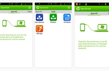 SyncDroid, Cara Backup Data, Download aplikasi android