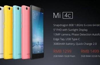Harga Xiaomi Mi 4C, Spesifikasi Xiaomi Mi 4C