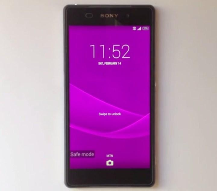 Sony Xperia, Safe Mode, Uninstall Aplikasi
