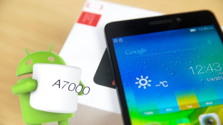 Lenovo A7000, Android 6.0 Marshmallow