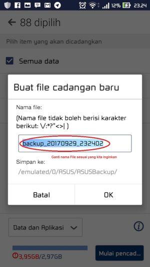 Cara Melakukan Backup dan Restore Aplikasi Data 4