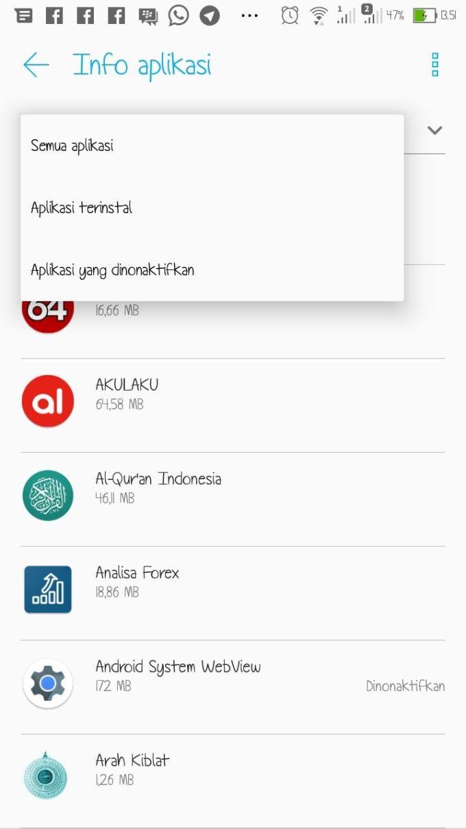 Menonaktifkan Aplikasi Bawaan (1)