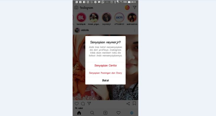 Mute Story Instagram