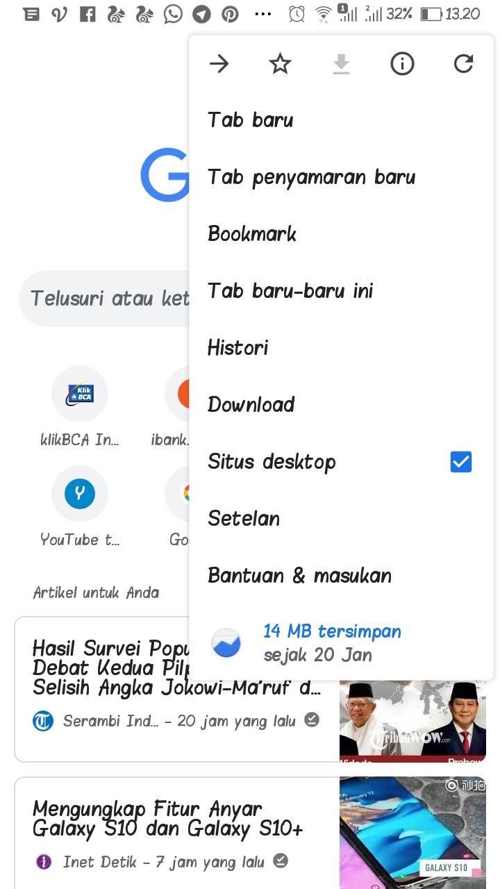 Chrome versi desktop