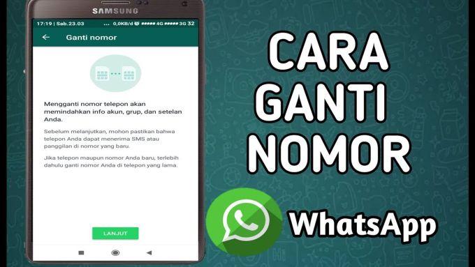 Cara Ganti Nomer WhatsApp
