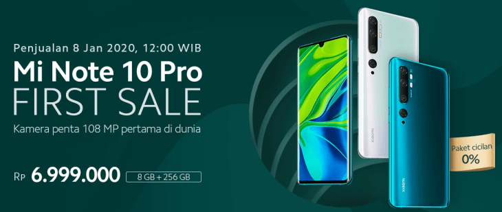 First Sale Mi Note 10 Pro