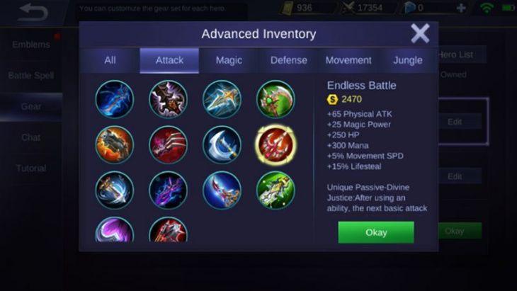Item Endless Battle Mobile Legends
