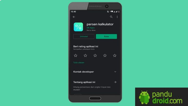 Cara Menghitung Persen Di Android