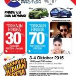 Karnival 'Alami Proton' 2015 Kembali – Nikmati Alat Ganti Tulen Pada Harga Serendah RM1