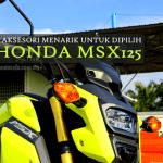 32 Aksesori Original Buat Pemilik Honda MSX125