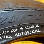 Apakah Maksud Kod & Simbol Tayar Motosikal Anda? Ketahui 20 Maklumat Rahsia Ini
