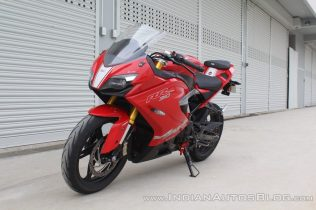 TVS-Apache-RR-310-first-ride-review-front-left-quarter