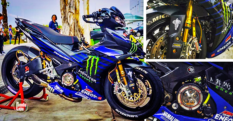 Kelibat Yamaha Y15ZR Versi Monster Energy (2019) Dilihat di