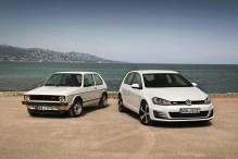VW Golf GTI MK 1 (kiri) dan GTI MK 7