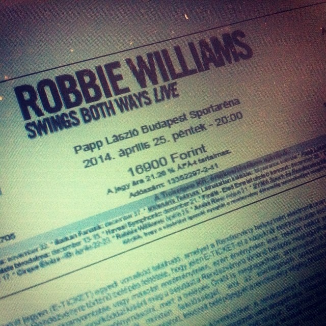 Bilet Robbie Williams - Swings Both Ways Live Tour