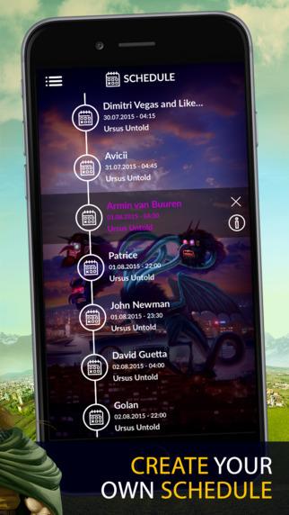 untold app - schedule