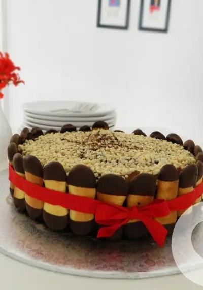 Charlotte mandorle e cioccolato senza glutine