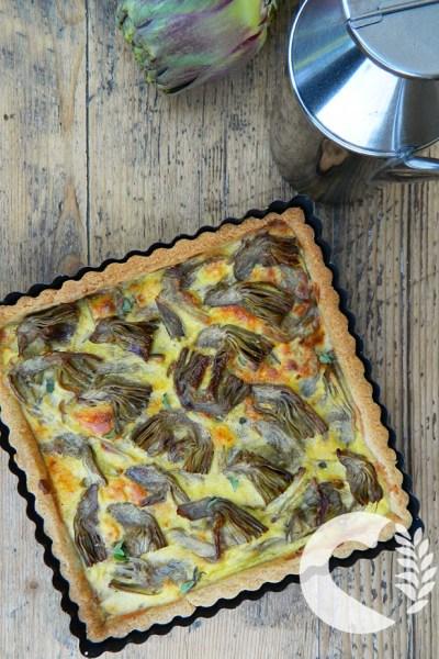 Torta rustica ai carciofi senza glutine
